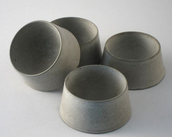 Egg cups from concrete, Set of 4, Eggcups