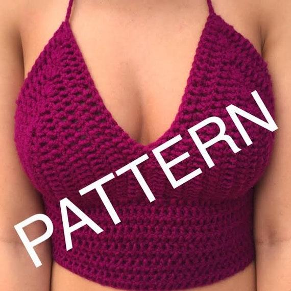 Crochet NYC Top Women\'s Festival Maroon Crop Top Pattern
