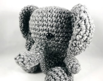 Crochet Handmade Elephant Plush Amigurumi Doll Stuffed Animal