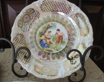 Winterling China, Vintage Decorative Plate, Winterling, Bavaria, Germany, Iridescent,Gold,Venus, Cupid, Home Decor