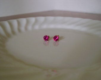 3756f0361 Ruby stud earrings 14Kt gold filled; small ruby stud earrings; small ruby  earrings gold; faceted ruby studs; July birthstone