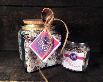 SOLD OUT!!!! Rose & Bergamot Bath Salt Gift Jar w/Spoon