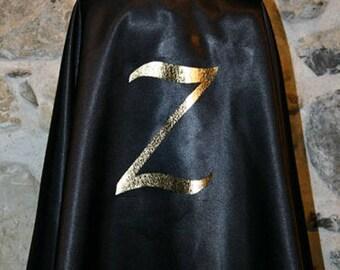 Drawing black satin Cape shape gold Z: 4t