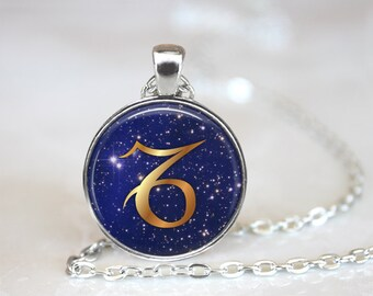 Capricorn Pendant, Zodiac Jewelry, Capricorn Necklace, Astrology, Capricorn Jewelry, Capricorn