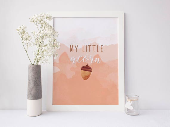 image about Acorn Printable identified as My minor acorn printable, acorn printable, acorn print, slide printable, slide print, nursery print, lovable slide wall artwork, electronic print