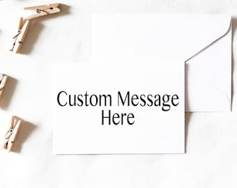 Custom Card Instant Download, custom greeting card, custom flat card, custom card, custom card design, create your own card