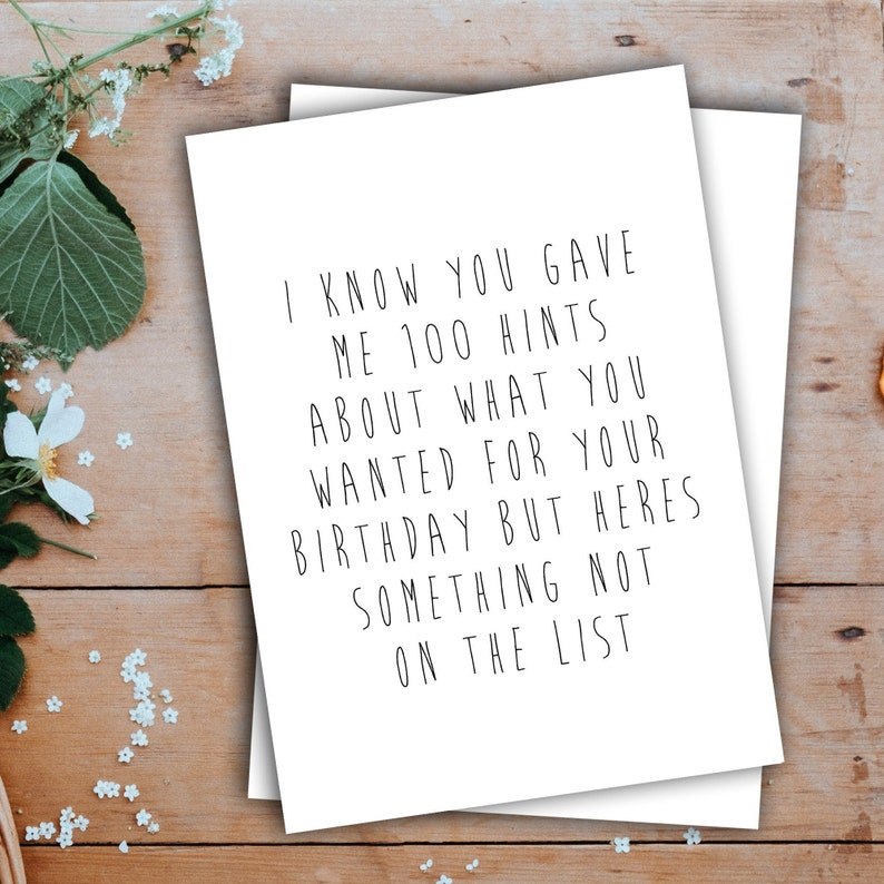 Birthday Card Funny Wife Fiance