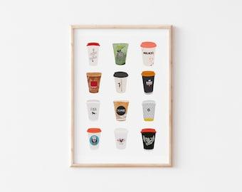 Toronto Coffee Shop Print 1.0 | Toronto Cafe Print | Coffee Cup Print | Coffee Print | Coffee Gift | Cafe Print | Toronto Print | Canada Art
