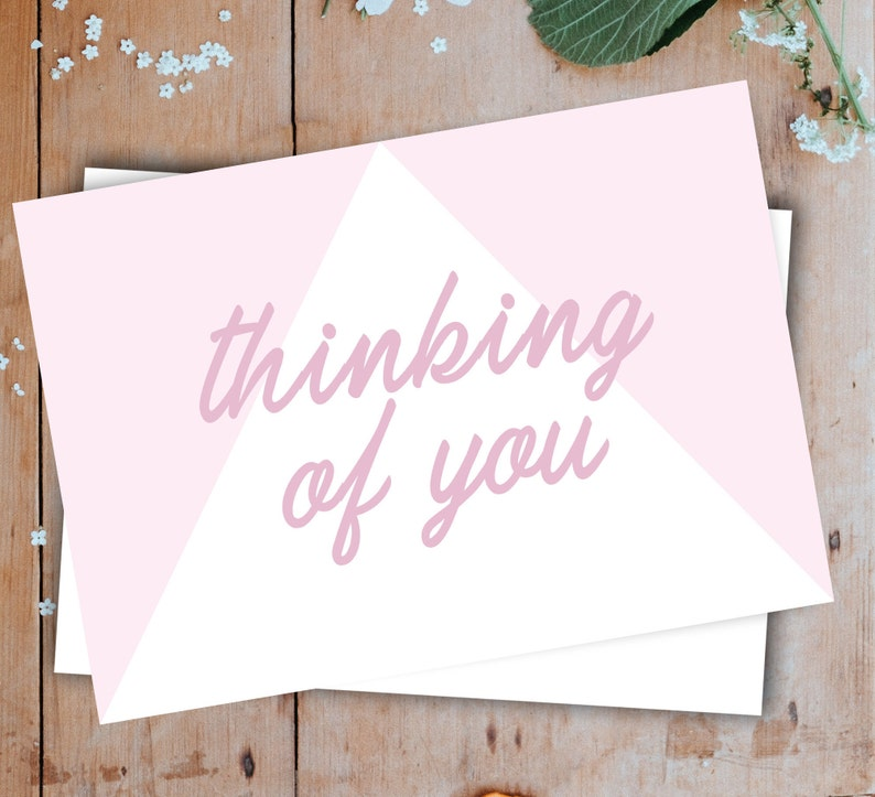 Thinking of You Card Sympathy Card Grief Card Mourning Card Just Because Card Supportive Card Love Card