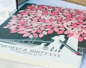 Unique Guestbook, Wedding Guest Book, Wedding Tree, Custom Guestbook, Tree Guestbook // Choose ArtPrint or Canvas // W-T05-1PS HH3