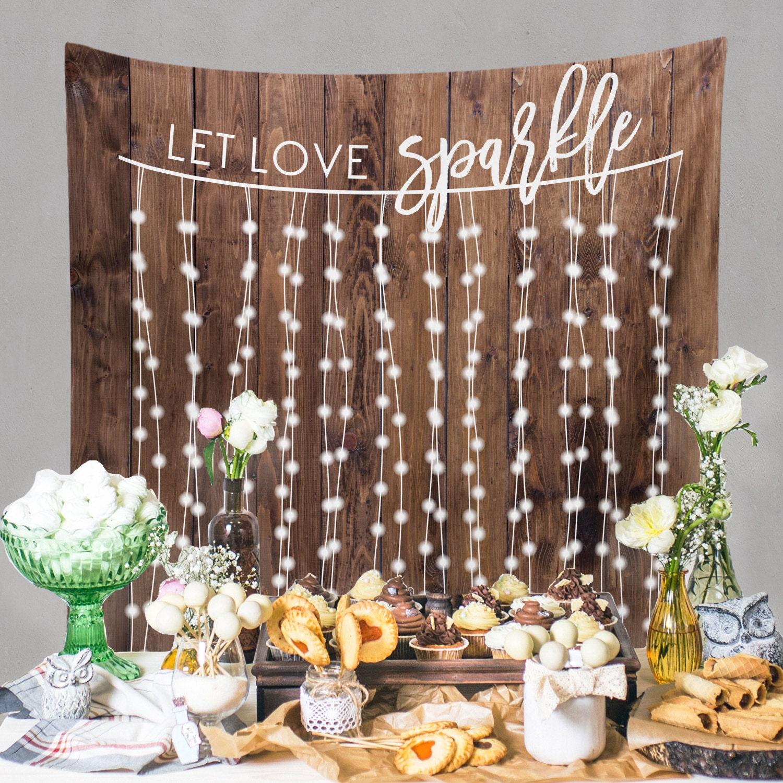 Wall Decoration Ideas Wedding: Rustic Wedding Backdrop Custom Tapestry Dessert Table