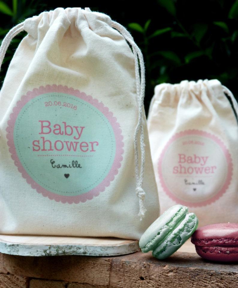 Pochon baby shower pour favor - Créatrice ETSY : latelierinspire