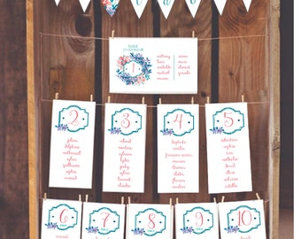 create and print table plan
