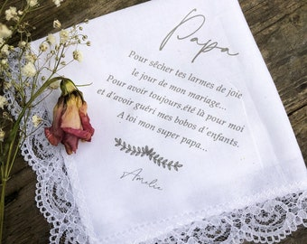 Handkerchief - personalized text - gift mom or dad