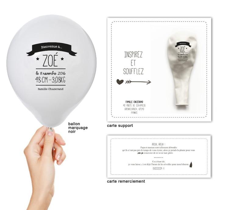 Très belle idée de faire part avec un ballon -Créatrice ETSY : latelierinspire