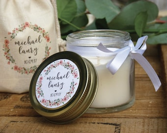 12 custom candles with or without a pouch