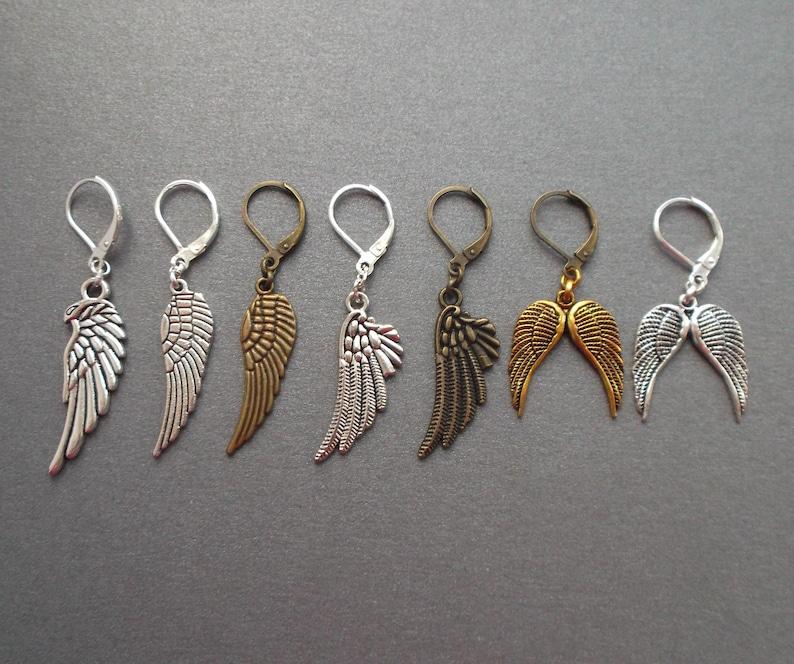 be6b8ee9a8ea61 Mens earrings Angel Wing. Single Men earring Big wing. Silver | Etsy