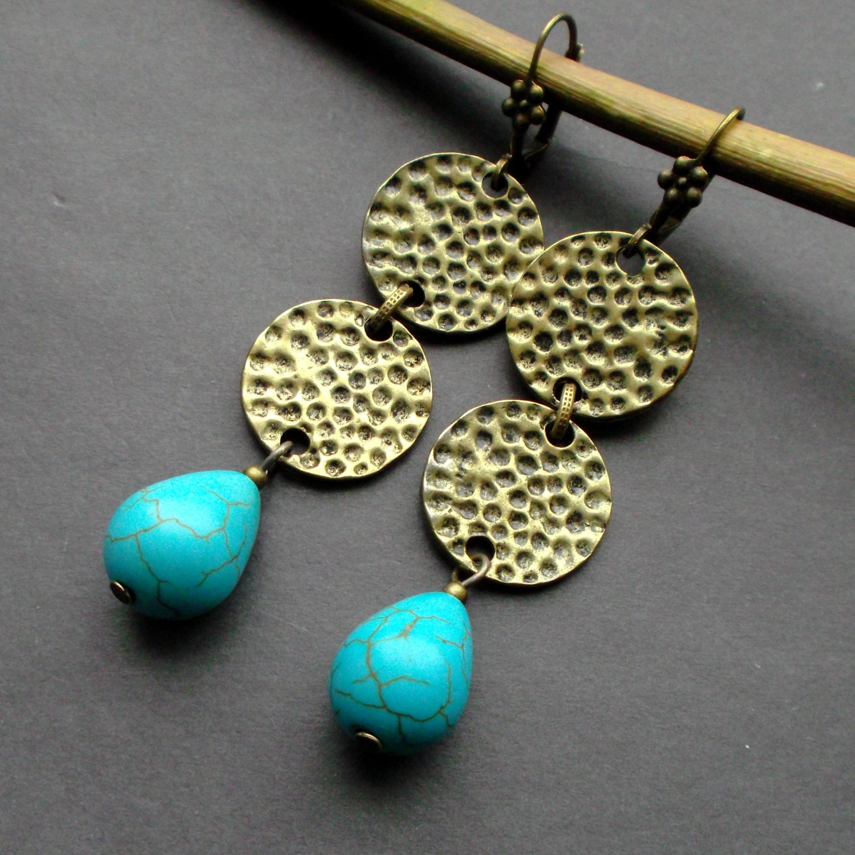 long earrings turquoise drop earrings earrings dangle. Black Bedroom Furniture Sets. Home Design Ideas