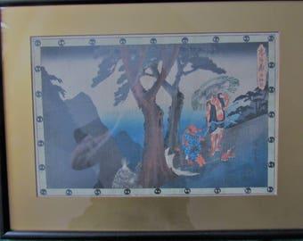Japanese Woodblock Ando Hiroshige Tale of Chushingura Original