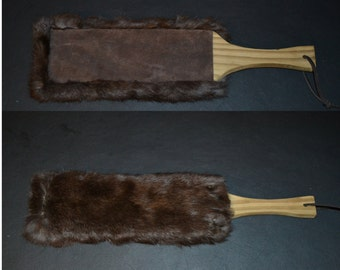 Rabbit Fur and Suede Paddle
