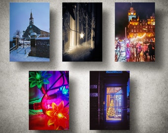 A5 Photographic Christmas Card Pack