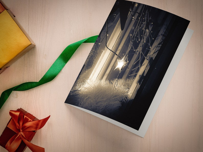 Little Star Duotone A5 Photographic Christmas Card