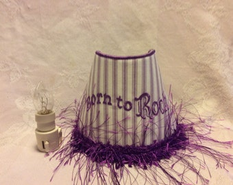 Night Light, Embroidered 'Born To Rock'.
