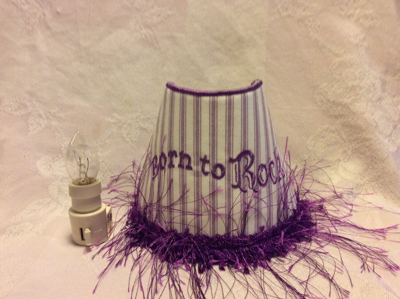 Night Light Embroidered 'Born To Rock'. image 0