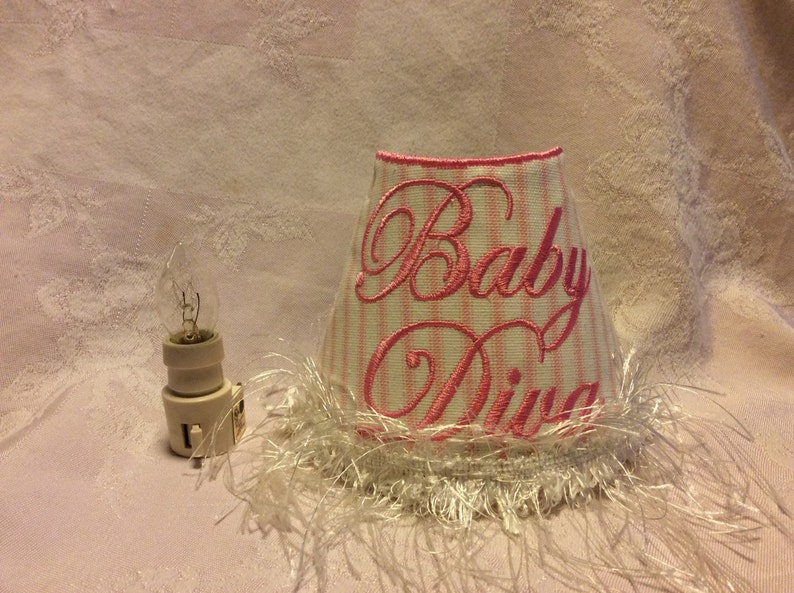 Night Light Embroidered 'Baby Diva'. image 0