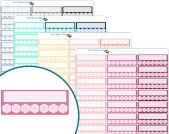 HABIT TRACKER STICKERS - Erin Condren Planner Stickers - Calendar Organizer Bullet Journal Planner stickers Functional Box Habit Tracker