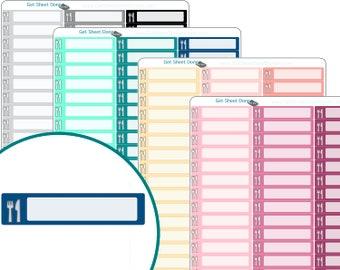 MEAL PLANNER STICKERS - meal Erin Condren Planner Stickers - Calendar Organizer Bullet Journal Planner stickers Functional Box Habit Tracker