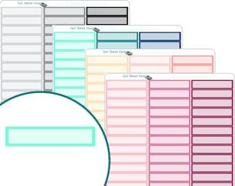 EVENT TODO STICKERS Erin Condren Planner Stickers  Calendar Organizer Bullet Journal Planner Functional Box check list box to do sticker