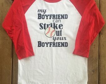 7ce8bc60c Custom Vinyl Royal Blue Sleeve Baseball Raglan T-Shirt-Baseball Season- Baseball  Girlfriend-Love-Bat-Boyfriend-Girlfriend