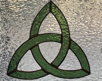 Suncatcher Glass Bevel RB855 celtic knot stained glass lead window
