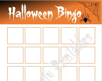 blank halloween bingo printable for diy sticker bingo game halloween party classroom party game youth group girl scouts preschool