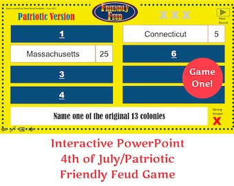 patriotic 4th of july friendly feud memorial day friendly feud game one interactive powerpoint game family friendly