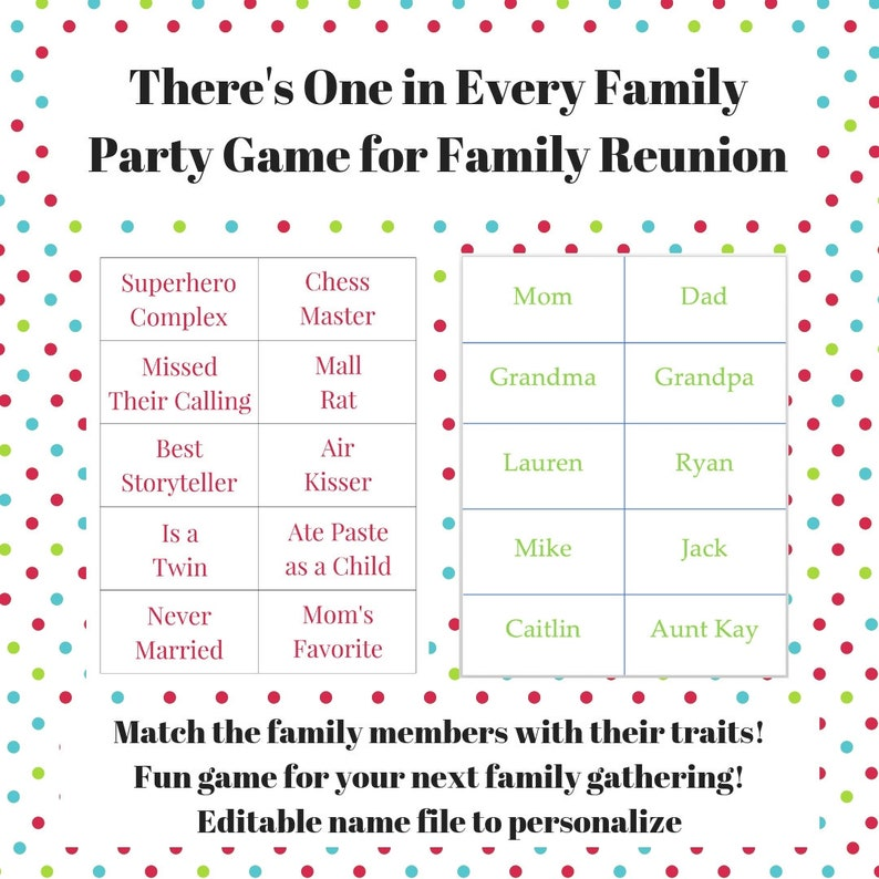 image about Family Reunion Scavenger Hunt Printable called Loved ones Reunion Printable Online games Deal -Great deal of 3 Game titles - Jep-arty!, Theres 1 inside Just about every Loved ones Trash or Treasure - Relatives Helpful