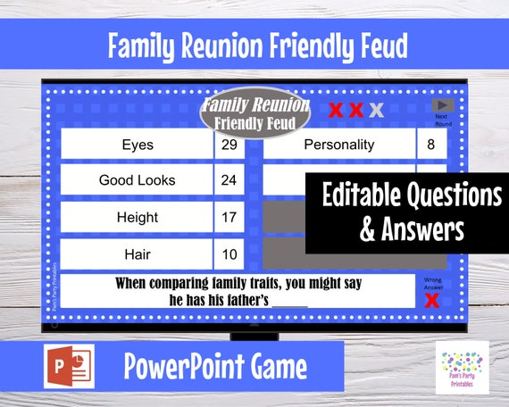 graphic relating to Bible Family Feud Questions and Answers Printable referred to as Family members Feud Get together Match