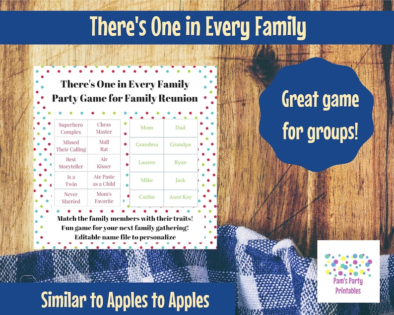 There's One in Every Family  Family Reunion Game  Apples image 0