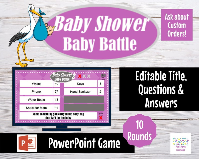 Virtual Game Gender Neutral Baby Battle 2  Editable image 0