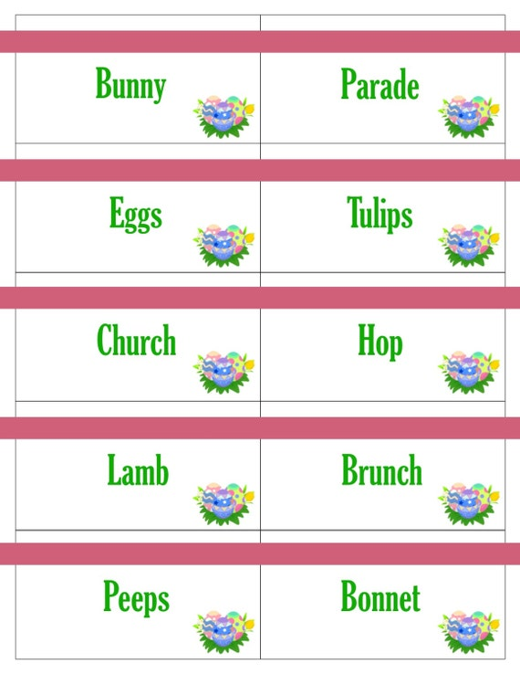 Clever image throughout printable easter games