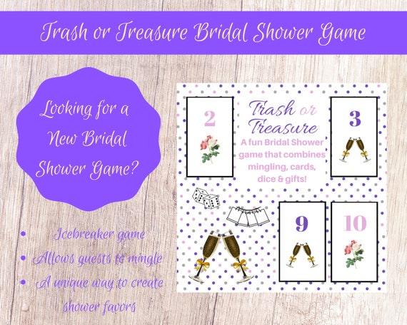 photo relating to Printable Dice Games identified as Bridal Wedding day Shower Trash or Treasure Printable Cube Card Sport Significant Local community, Bridal Shower Celebration Prefer, Bridal Shower Video game, Mingle Recreation