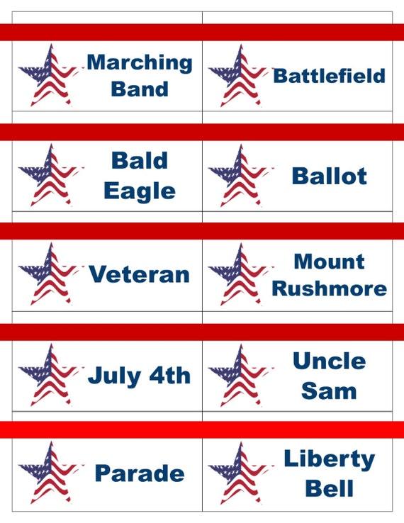 Printable Patriotic 4th Of July Memorial Day Veteran S Day