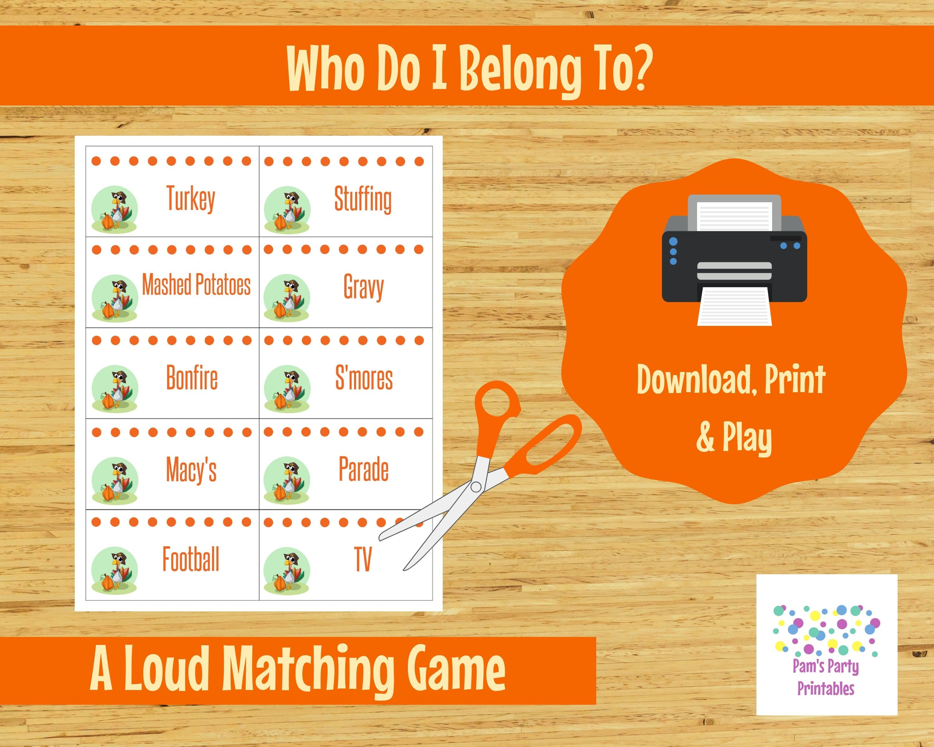 photograph about Printable Thanksgiving Games identify Printable Thanksgiving Sport - Who do I belong in direction of? - Loud video game, Neighborhood Match, Relatives Helpful, Youth Local community, Teenager, Clroom, Icebreaker