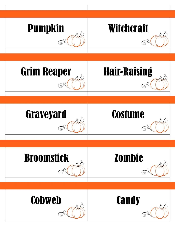 Druckbare Halloween-Spiel-Karten für Pictionary Scharaden   Etsy