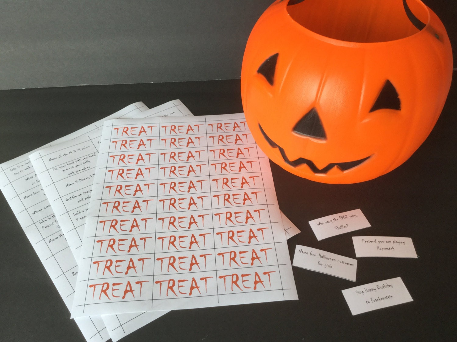 halloween trick or treat game classroom party game youth etsy