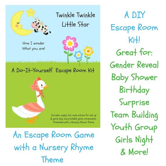 Twinkle twinkle nursery rhyme diy escape room kit gender etsy image 0 solutioingenieria Choice Image