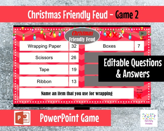 It is a picture of Family Feud Questions and Answers Printable intended for new poll game