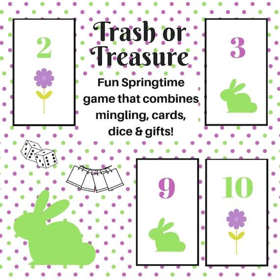 picture regarding Printable Dice called Springtime/Easter Trash or Treasure Printable Cube Card