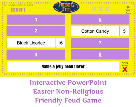 This is a picture of Selective Bible Family Feud Questions and Answers Printable Free